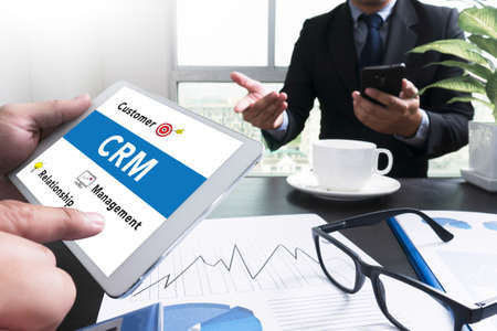 interactions: Business Customer CRM Management Analysis Service Concept