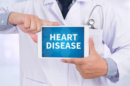 tachycardia: HEART DISEASE Doctor holding  digital tablet