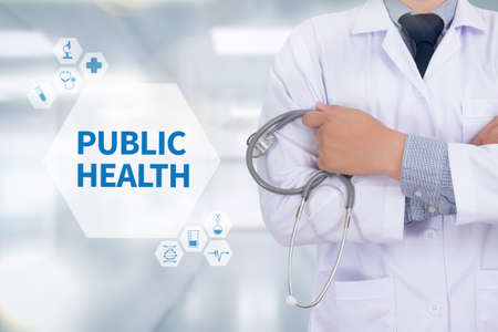 public health: PUBLIC HEALTH Professional doctor use computer and medical equipment