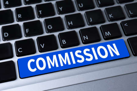 COMMISSION a message on keyboard
