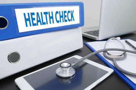 use computer: HEALTH CHECK  Professional doctor use computer and medical equipment
