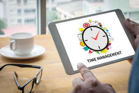 mindmap: TIME MANAGEMENT Computing Computer  Laptop with screen on table Silhouette and filter sun