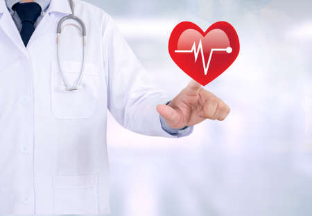 palpitations: HEART ATTACK Medicine doctor working with computer interface as medical