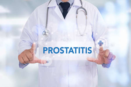 impotence: PROSTATITIS Medicine doctor hand working