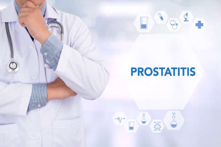 psa: PROSTATITIS Medicine doctor working with computer interface as medical