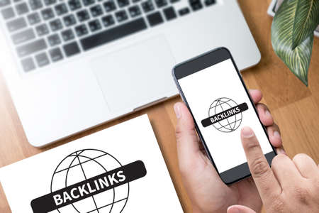 backlinks: BACKLINKS. business people Stock Photo