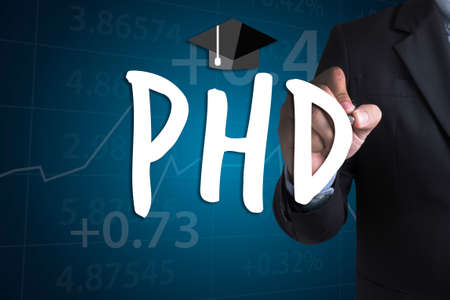 PhD Doctor of Philosophy Degree Education Graduation Stock Photo