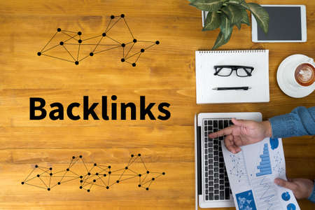 BACKLINKS Stock Photo