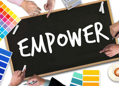 empower: Empower Business Job  Work Mission Planner Organizer Stock Photo