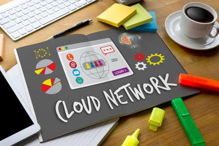 globalization: Cloud Network Communication  Globalization Cloud Computing diagram Connection network technology Stock Photo