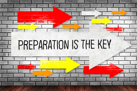 BE PREPARED and PREPARATION IS THE KEY plan, prepare, perform Imagens