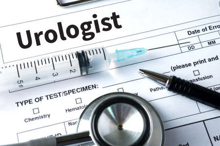 urologist: Urologist  healthcare, profession, people and medicine Stock Photo
