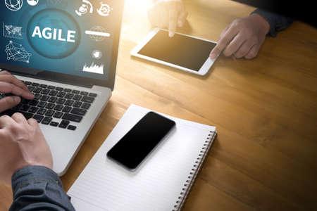 agile: AGILE Agility Nimble Quick Fast Concept