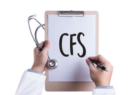 consolidated: CFS  (Consolidated Financial Statement) Medical Concept: CFS - Chronic Fatigue Syndrome Stock Photo