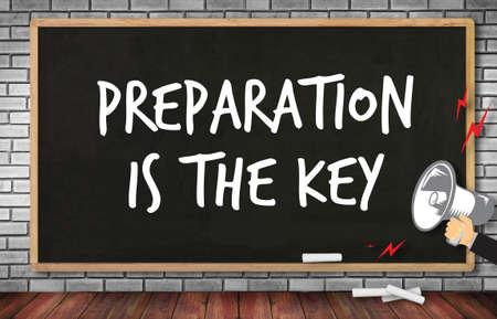 be prepared: BE PREPARED and PREPARATION IS THE KEY  plan, prepare, perform
