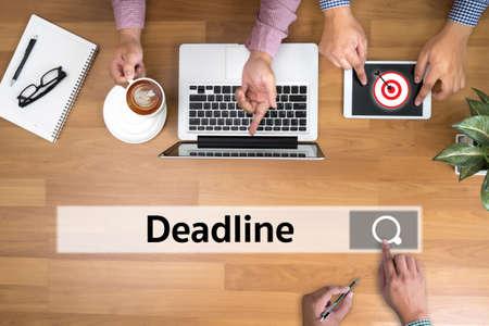 job deadline: Deadline Job Work Events Planner Organizer Stock Photo