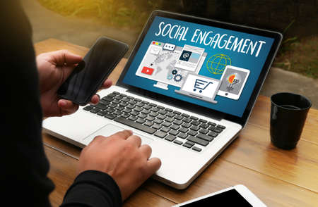 SOCIAL ENGAGEMENT  Analytics and data science of social networks , social media audience SOCIAL ENGAGEMENT , Interact  Social Media Social Networking Communicate SOCIAL ENGAGEMENT  Connect