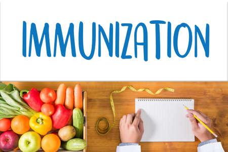 autoimmune: IMMUNIZATION Immune System  as medical concept ,  Syringe. Immunization  , immune protection system , immune system
