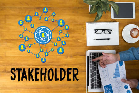 STAKEHOLDER, betrokkenheid van stakeholders concept, stakeholders, strategie mindmap, business, Partner Deal Stakeholder Inzender Aandeelhouder, Bedrijfsmanagement Aandeelhouder