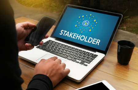 stakeholders: STAKEHOLDER , stakeholder engagement concept  , stakeholders, strategy mind map, business  , Partner Deal  Stakeholder Contributor Shareholder , Business management Shareholder