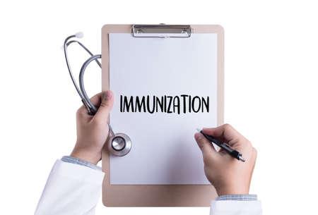 IMMUNIZATION Immune System as medical concept , Syringe. Immunization , immune protection system , immune system