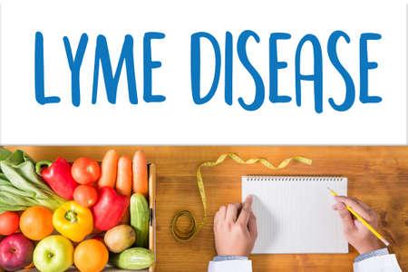 LYME DISEASE Lyme disease or Lyme borreliosis , Lyme Disease, Medical Concept , Patients lyme disease and ticks