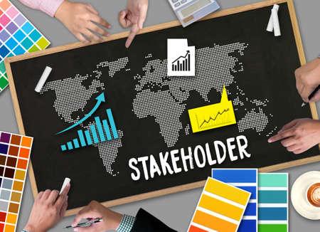 利害関係者、ステーク ホルダー ・ エンゲージメント コンセプト、ステーク ホルダー、戦略マインド マップ、ビジネス、パートナー契約関係者寄 写真素材