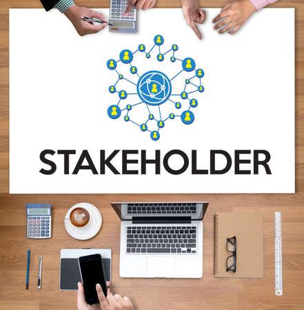 STAKEHOLDER ,  engagement concept  ,  strategy mind map, business  , Partner Deal   Contributor  , Business management Shareholder