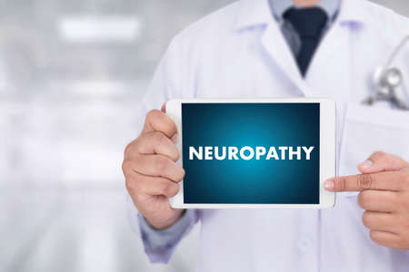 NEUROPATHY  Medical  Doctor concept , Neuropathy Wording in Anamnesis. Stock Photo - 70033822