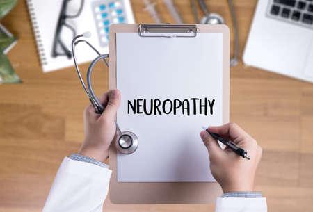 NEUROPATHY  Medical  Doctor concept , Neuropathy Wording in Anamnesis. Stock fotó