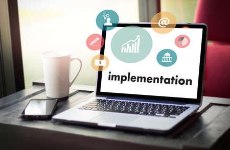 implementing: implementation Entrepreneur Business Venture Target To Goals Expansion  Marketing Concept