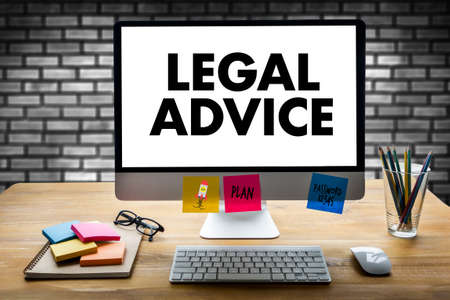 LEGAL ADVICE (Legal Advice Compliance Consulation Expertise Help) Stock Photo