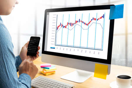Stock Market Results Stock Trade Report Forex Shares business people Standard Stock Photo
