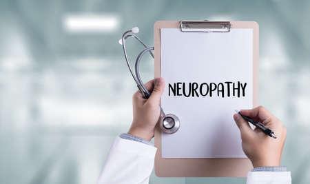 NEUROPATHY  Medical  Doctor concept , Neuropathy Wording in Anamnesis. Standard-Bild