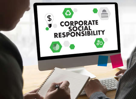 norms: CORPORATE SOCIAL RESPONSIBILITY  Ecology Solution Fresh Lush Natural Nature Stock Photo
