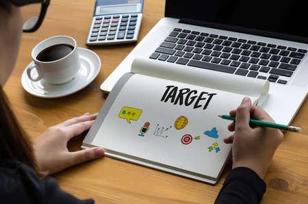 enact: Entrepreneur Business Venture Target To Goals Expansion  Marketing Concept