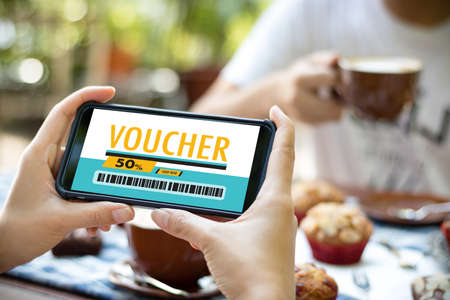 Credit Card Online Technology Shopping and Gift Card Voucher Coupon Concept