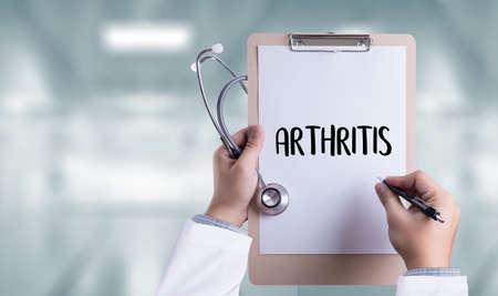 inflammatory: ARTHRITIS medical examination medicine, health and hospital Stock Photo