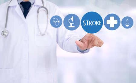 cva: STROKE Medicine doctor hand working Professional Stock Photo