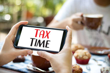 Time for Taxes Planning Money Financial Accounting Taxation Businessman Tax Economy Refund Money Stock Photo