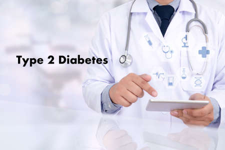 dome type: type 2 diabetes doctor a test disease health medical concept