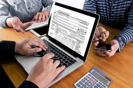 税お金金融会計税務実業家税経済還付金を計画のための時間 写真素材