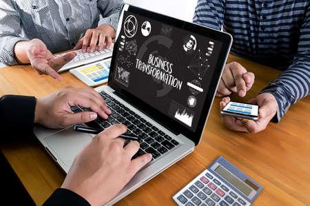 Digital BUSINESS TRANSFORMATION  , Hi-tech technological Digital and About Digital Marketing Stock Photo