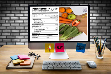 food Gluten Free Celiac Disease Nutrition , Healthy lifestyle concept with diet and fitness , Nutrition facts Stock Photo