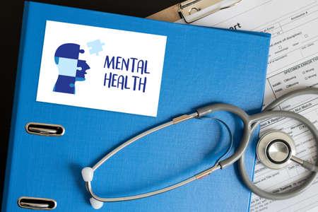 MENTAL HEALTH Psychisches Stressmanagement und psychologisches Trauma Gesundheit Standard-Bild - 77263960