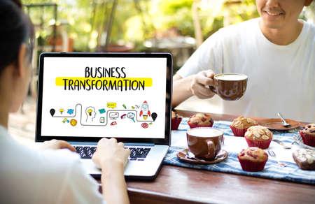 Digital BUSINESS TRANSFORMATION  , Hi-tech technological Digital and About Digital Marketing Reklamní fotografie