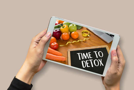 withdrawal: TIME TO DETOX Fitness and weight loss concept