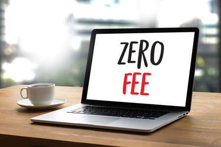 hidden fees: zero fee Businessman working with calculator and document data