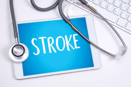 STROKE Medicine doctor hand working Professional Stock Photo
