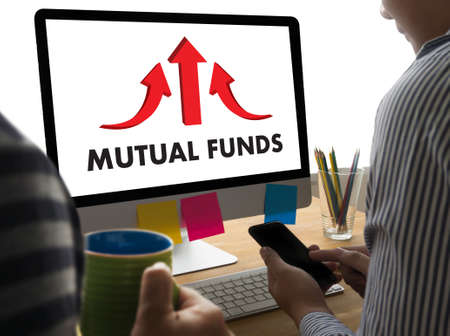financial diversification: MUTUAL FUNDS Finance and Money concept , Focus on mutual fund investing